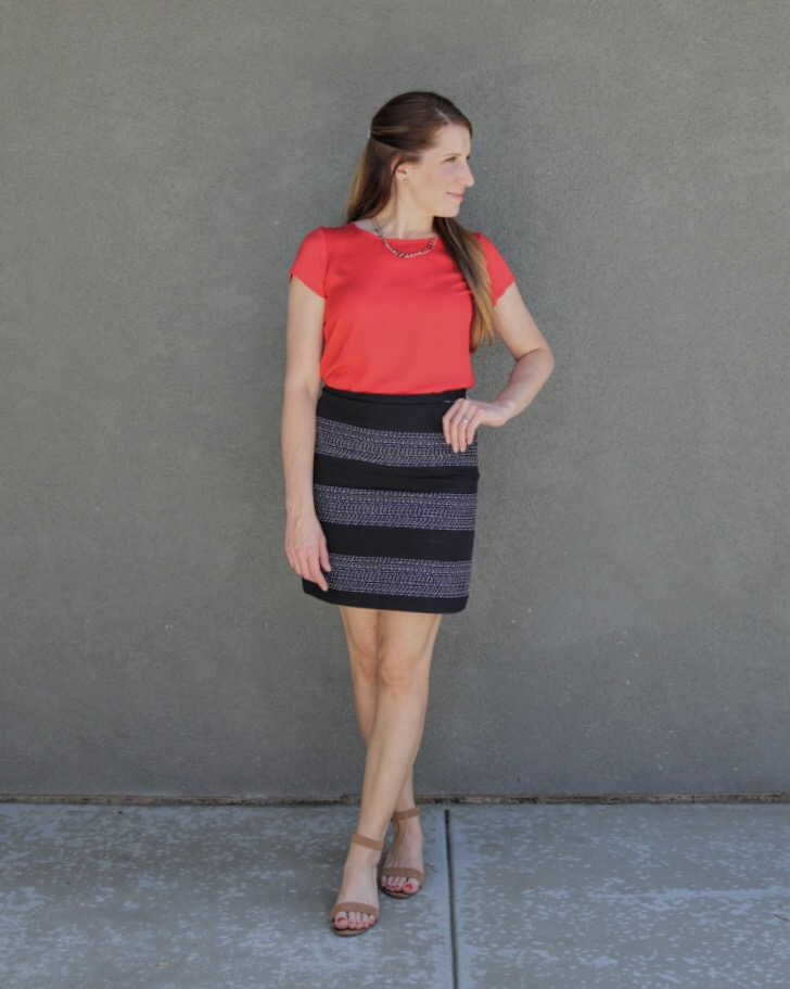 timeless skirt red and black